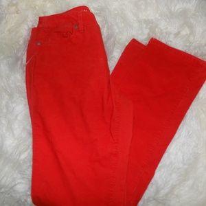 Ann Taylor Loft Corduroy Orange Pants (W12T)